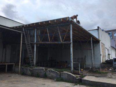 Кровельные работы - крыша, навес, профнастил Одесса (фото id3035)