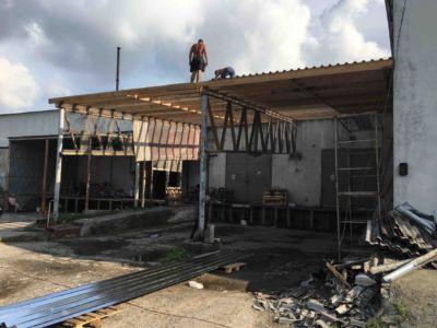 Кровельные работы - крыша, навес, профнастил Одесса (фото id3038)