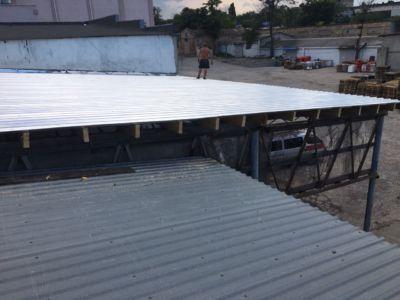 Кровельные работы - крыша, навес, профнастил (фото id3039)