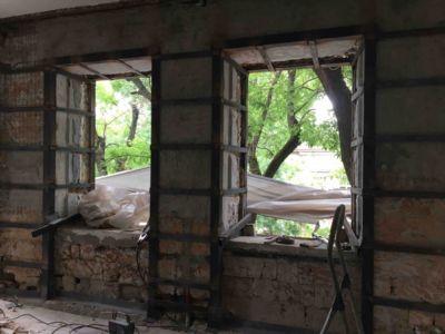 Демонтажно подготовительные работы - сварочные работы, усиление стен и реконструкция (фото 969)