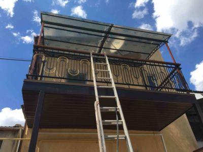 Сварочные работы - балкон, перила и ограждения, навес, козырек, укрепление и опоры  (фото 970)