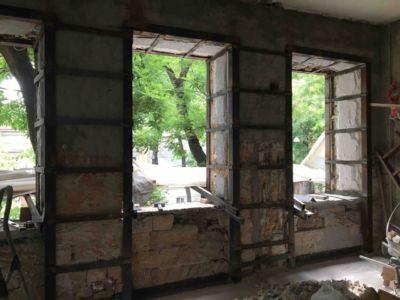 Демонтажно подготовительные работы - сварочные работы, усиление стен и реконструкция (фото 974)
